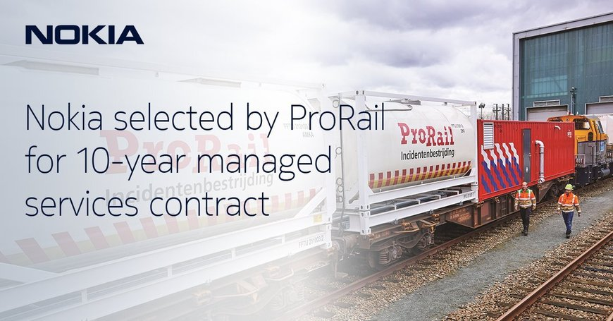 Nokia selected by ProRail for 10-year managed services contract